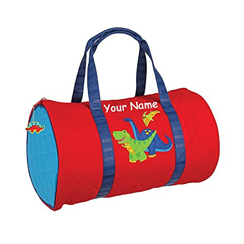 Personalized Stephen Joseph Quilted Dinosaur Duffle Gym (Personalized Gym Bags)