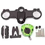 FXCNC Racing Motocycle CNC Black Steering Damper Stabillizer Bracket Kit Control Fit for KTM RC250 RC390 all Years Adjustable