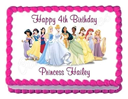 Image Unavailable Not Available For Color DISNEY PRINCESS Party Decoration Edible Birthday Cake