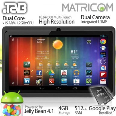 "7"" .TAB Nero x2 Dual Core Android 4.1 Multi-Touch Tablet PC (Black)"