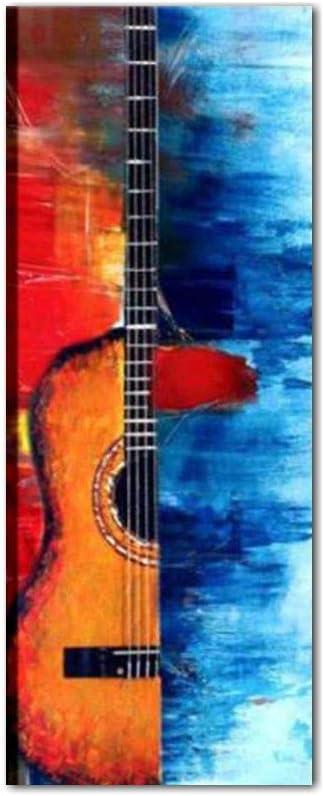 Cuadros modernos Verticales Guitarra Música musicales pintados a ...
