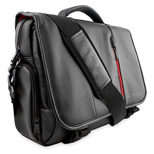 Laptoptasche, Snugg - Schwarze Notebooktasche - Umhängetasche für Laptops mit einer Bildschirmdiagonale von bis zu 15.6 Zoll