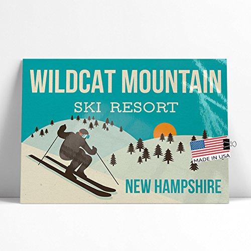 NEONBLOND Large Poster Wildcat Mountain Ski Resort - New Hampshire Ski Resort Printed in Atlanta by (Ski Wildcat)