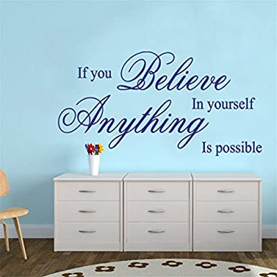 OrliverHL If You Believe In Yourself Anything Is Possible Wall Quote Decal