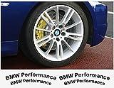BMW Performance brake caliper decal - 4 pcs in Set (silver)