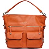 Kelly Moore 2 Sues 2.0 Camera / Tablet Bag with Shoulder & Messenger Strap (Orange) includes Removable Padded Basket