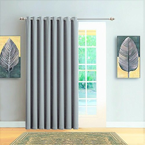 Cheap  Warm Home Designs 1 Panel of Light Grey (Silver) Blackout Patio Door..