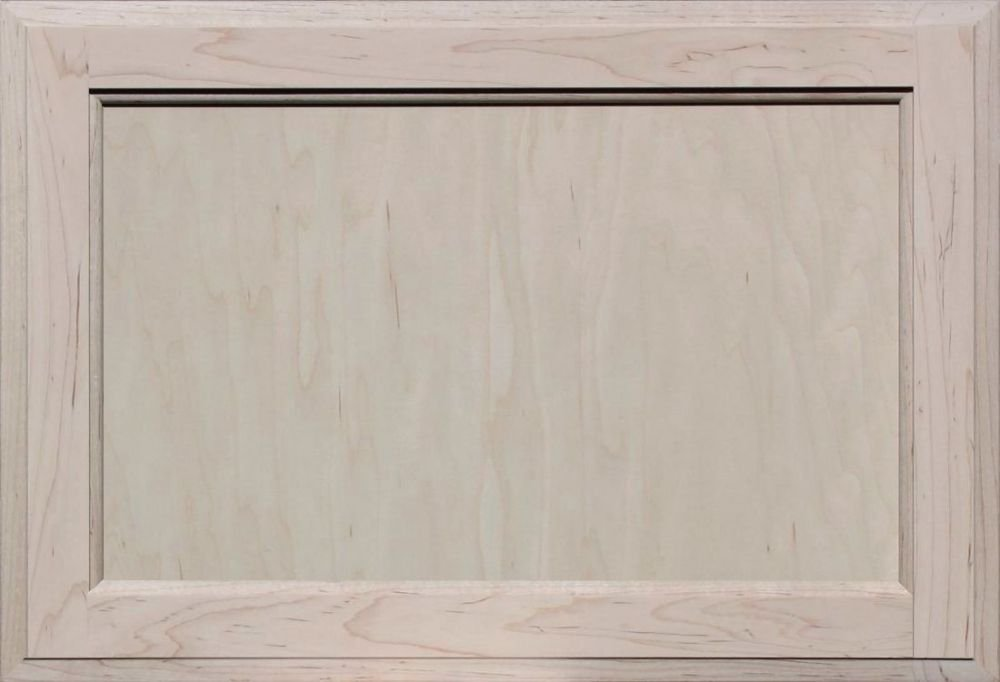 Unfinished Maple Square Flat Panel Cabinet Door by Kendor, 15H x 22W