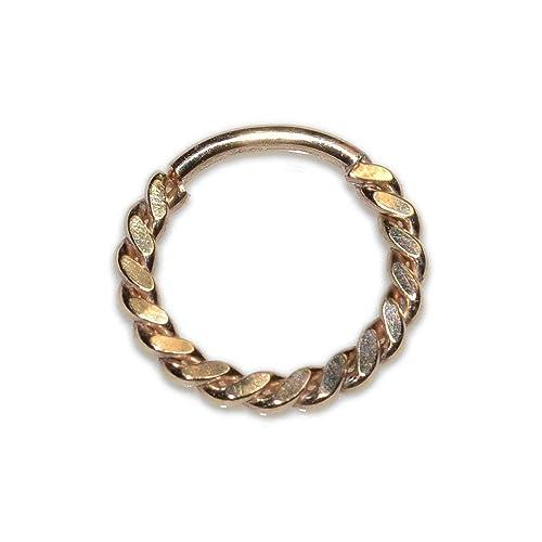 Amazon Com Gold Septum Ring 18g For Men Septum Piercing Nipple