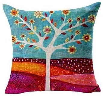 Amazon.com: Funda de almohada cuadrada decorativa para el ...
