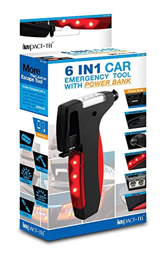 6 in 1 Car Emergency Tool with 2200 mAh Power Bank