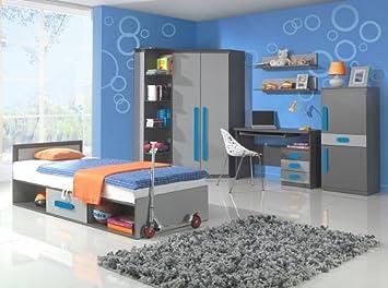 Play Kinderzimmer Set Jugendzimmer 02(5tlg.) in der Farbe Anthrazit ...