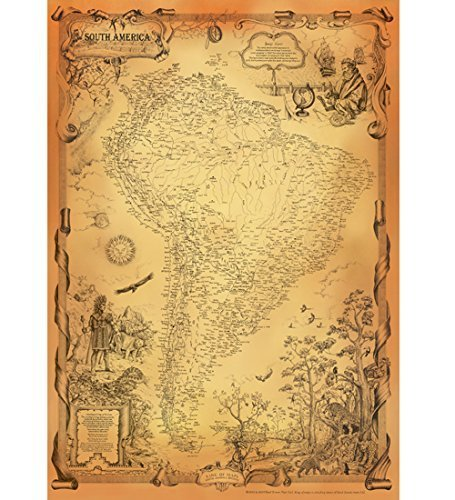 NEW ANTIQUE STYLE SOUTH AMERICA MAP VINTAGE MAP OLD MAP CHILE - Vintage maps uk