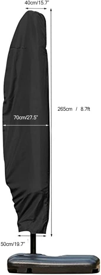 Copertura dellombrello di Ombrello Parasole di derivazione Impermeabile con la Chiusura Lampo utilizzata per lesterno ALLOMN Coperchio dellombrello del Patio per 9ft a 11ft