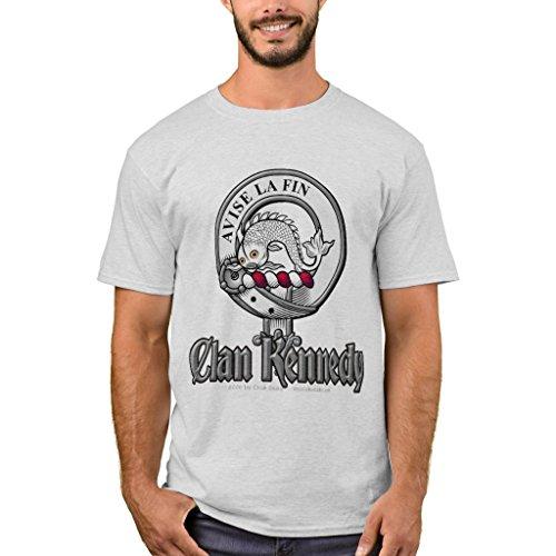 -Shirt, Clan Kennedy T-Shirt, Ash XXL (Kennedy Ash Grey T-shirt)