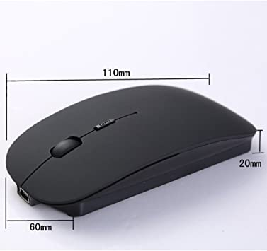 Idyandyans 2.4G Colorful Wireless Mouse Mini Cordless Optical Mice Office Wireless Computer PC Laptop Mouse red