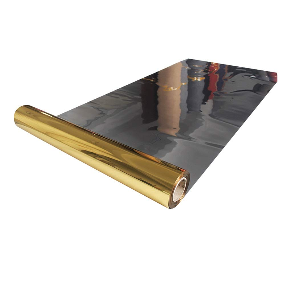鏡 カーペット プラスチック 0.12mm 廊下カーペット 反射性 膜 敷物 にとって 結婚式 お祝い T 駅 ロマンチック 豪華な (色 : Silver- gold, サイズ さいず : 1.2x80m) 1.2x80m Silver- gold B07P82DS2J