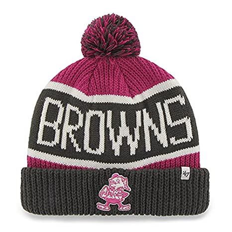 47 Brand Magenta Pink  quot Calgary quot  Beanie Hat with Pom - NFL BCA 4546a74e351