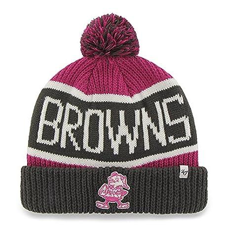 "cda24c8e279b29 47 Brand Magenta/Pink ""Calgary"" Beanie Hat with Pom - NFL BCA"