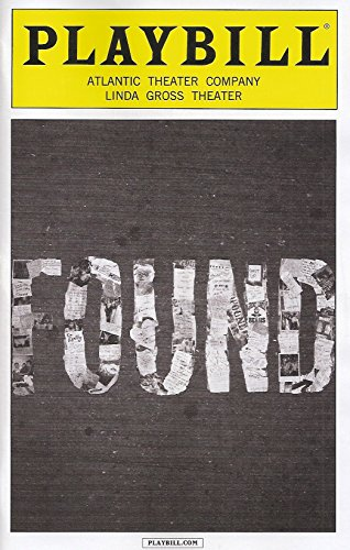 found-playbill-september-2014-atlantic-theater-company-linda-gross-theater-book-by-hunter-bell-lee-o