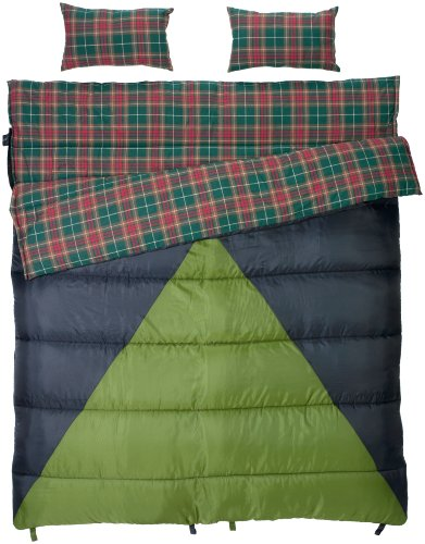Slumberjack Bonnie and Clyde 30/40 Double Wide Synthetic Sleeping Bag, Outdoor Stuffs
