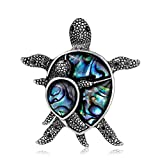 CHUYUN Delicate Abalone Animal Turtoise Brooch Pin Personnality Turtle Jewelry