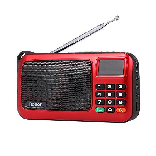 [해외]KKmoon Rolton W405 FM 디지털 라디오 휴대용 USB 유선 컴퓨터 스피커 손전등 된 HiFi 스테레오 수신기 LED 디스플레이 지원 TF 뮤직 플레이 / KKmoon Rolton W405 FM Digital Radio Portable USB Wired Computer Speaker HiFi Stereo Receiver LED ...