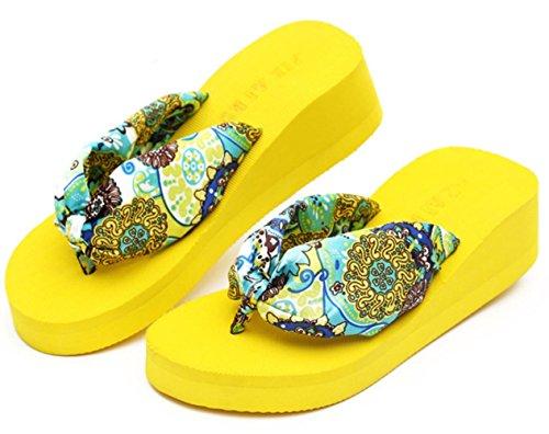 clip KUKI de de dérapant des pantoufles portent dames pantoufles des d'anti de 34 d'orteil avec sandales Muffin rCnrRp