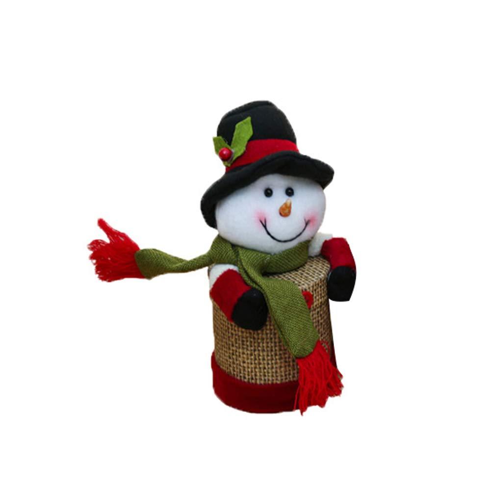 Sungpunet La Caja del Caramelo de Lino Caja de Regalo Grande de Santa Claus muñeco de Nieve Ciervos Decoraciones de Navidad de los niños del Regalo de la víspera de Navidad decoración para el Hog