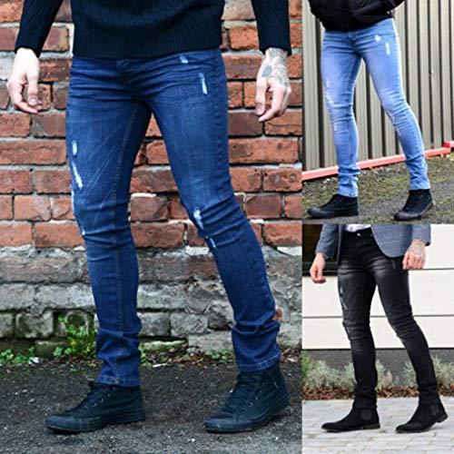 Stretch Uomo Estilo Heavy Pantaloni Dritta Asiatica Duty Gamba Moda Per Skinny Fit Especial Jeans Pantalone Nero Slim qwBOO1