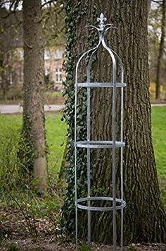 kuheiga Estable pérgola Metal H: 195 cm diámetro: 41 cm celosía Obelisco galvanizado: Amazon.es: Jardín