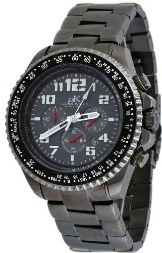 Adee Kaye #AK9006-MBT Men's Gunmetal Stainless Steel Nautical Chronograph Watch Watch