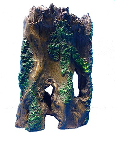 Décor TREE TRUNK HOLLOW LOG FS090 AQUARIUM RESIN SWIM THROUGH TANK DECOR (Resin Hollow Log Ornament)