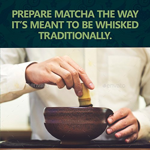 Bamboo Whisk (Chasen) and Hooked Bamboo Scoop (Chashaku) - Matcha Tea Whisk for Matcha Tea Preparation - MatchaDNA Brand - Traditional Matcha Whisk Made from Durable and Sustainable Golden Bamboo by MatchaDNA (Image #7)