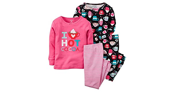 9d68fb2bbc Amazon.com  Carters Little Girls  Hot Cocoa 4-Piece Pajama Set (4T)   Clothing