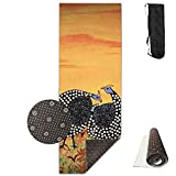 Game Bird Guinea Fowl Painting Comfort Unisex Yoga Mat For Yoga,Exercise,Pilates,Sports & Outdoors
