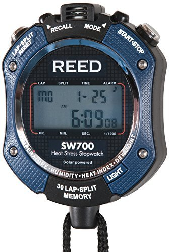 Heat Index Stopwatch - Reed Instruments SW700 6-in-1 Stopwatch: Temperature, Humidity, Heat Index, Stopwatch, Calendar and Clock by Reed Instruments