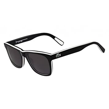 bcf5f0a8f1e Amazon.com  Sunglasses LACOSTE L781S 002 BLACK WHITE BLACK  Clothing