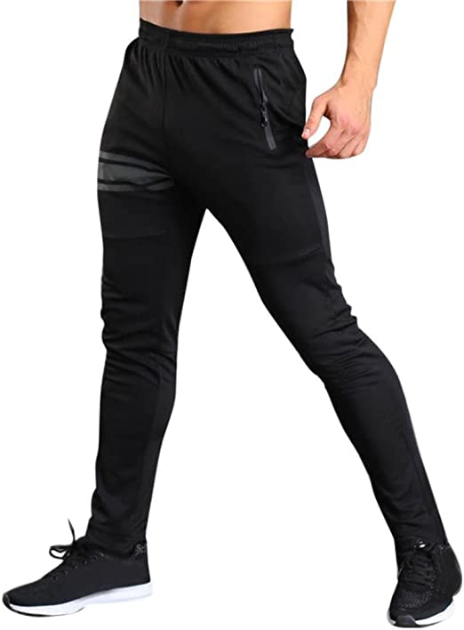 RRINSINS Mens Gym Jogger Pants Slim Solid Workout Running Sweatpants