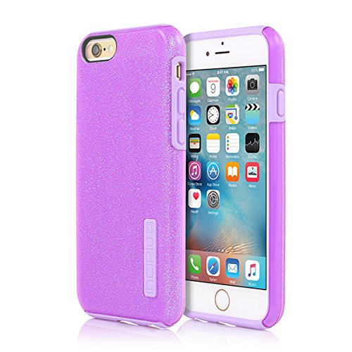 buy online 511f5 80fab iPhone 6/6s Case, Incipio [Hard Shell] [Dual Layer] DualPro Glitter Case  for iPhone 6/6s-Purple