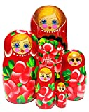 Anastasia Red 5 Piece Nesting Doll
