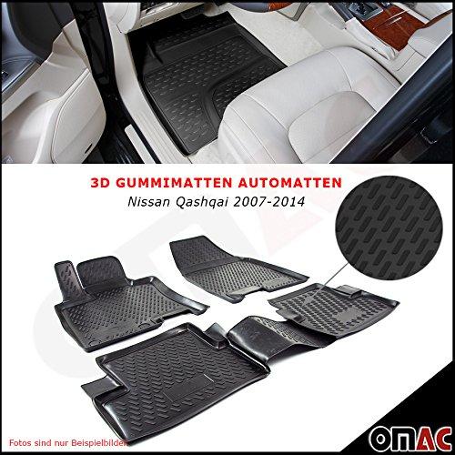 Omac NISSAN QASHQAI 2007/2014/Tappetini in gomma Polymer alta 3d gomma tappetini per auto