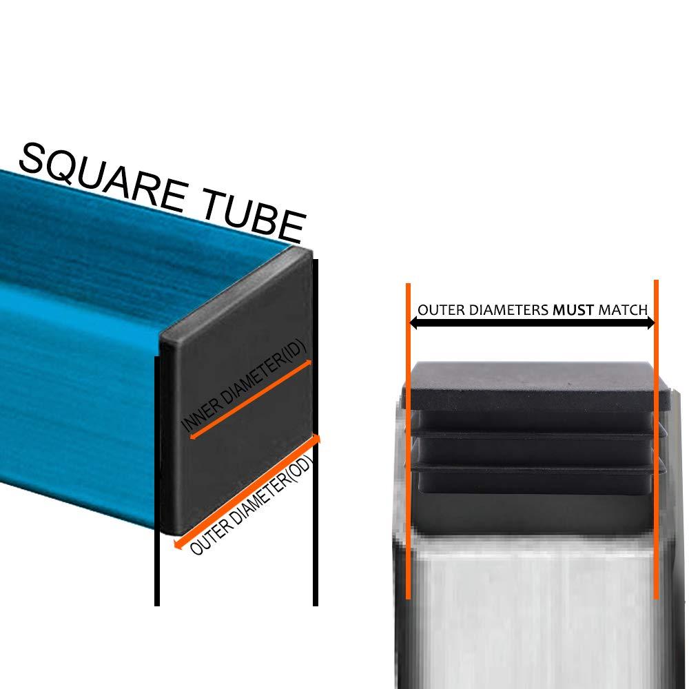 Square Plastic Plug,Plastic Plugs//End Caps//Plastic End Caps//Plastic Plugs for Fence Post Pipe Cover Tube Chair Glide Insert Finishing Plug-1 4//5 Inch Square Plastic Plug 20pcs