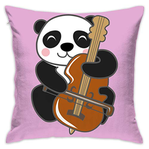 Karen Felix Throw Pillow Covers Panda Play Guitar