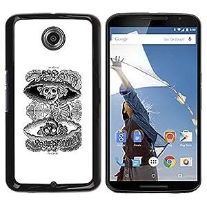 All Phone Most Case / Hard PC Metal piece Shell Slim Cover Protective Case Carcasa Funda Caso de protección para Motorola NEXUS 6 / X / Moto X Pro Nuclear Skull Death Black White Rock