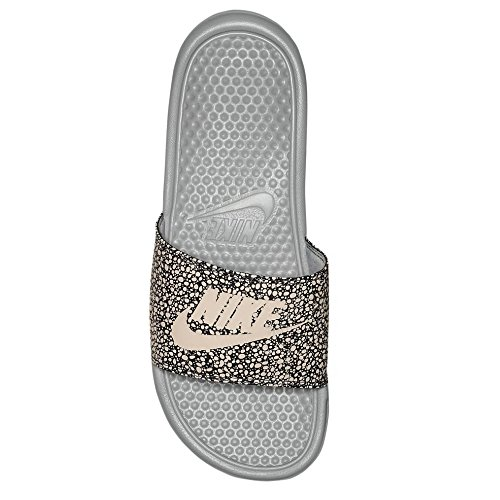 Nike Benassi Just Do It Print Mens Slide Wolf Grijs / Top Wit-antraciet