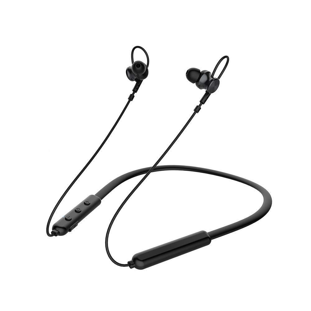ワイヤレスイヤホン Bluetooth 5.0 ワイヤレスヘッドフォン IPX5 防水 12時間再生 ノイズキャンセリング 3D ステレオ 重低音 インイヤーヘッドセット マイク内蔵 ボリュームコントロール B07QQW1BMC