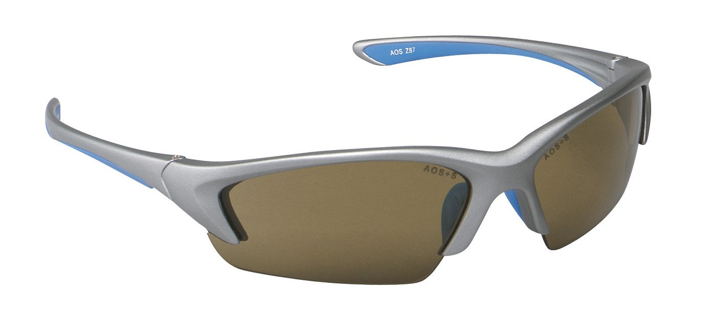 3M Safety Glasses, Nitrous, ANSI Z87, Anti-Fog, Bronze Lens, Silver Frame, Soft Nose Bridge