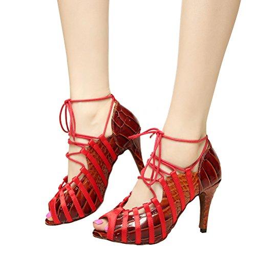 Salsa Practice toe Heels Open Sandals Womens Ballroom Shoes Latin Tango Dance 3 Heel BCLN with 3 w0Xp8qxq