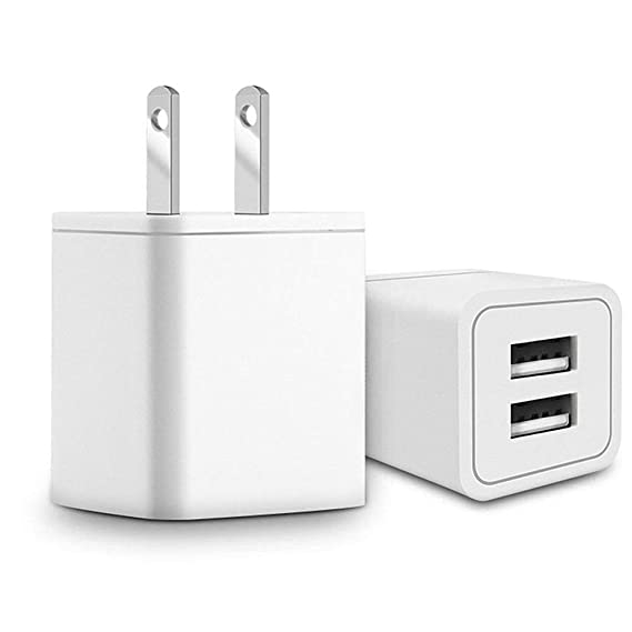 finest selection d9344 b0a71 Amazon.com: USB Wall Charger, Quick Charge Charger Dual USB Port ...